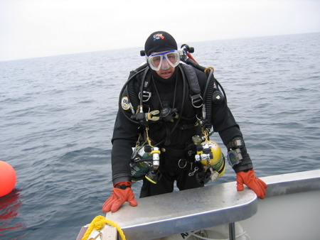 photo of technical diver